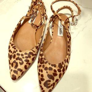 Steve Madden leopard flats -new size 7